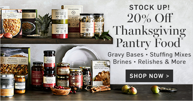 STOCK UP! 20% OfF Thanksgiving Pantry Food* - SHOP NOW