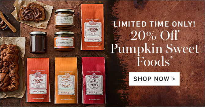 LIMITED TIME ONLY! 20% Off Pumpkin Sweet Foods* - SHOP NOW
