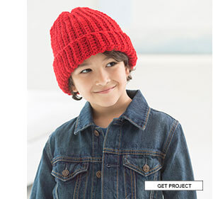 Easy Child's Crochet Hat. Leaf peep in style in a cozy crocheted cap, perfect for your favorite tween. GET PROJECT.