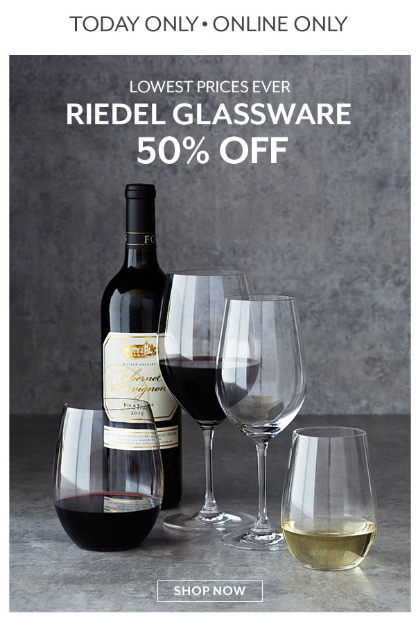 Riedel 50% off