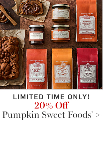 20% Off Pumpkin Sweet Foods*