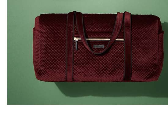 Iconic Large Travel Duffel in Chocolate Raisin