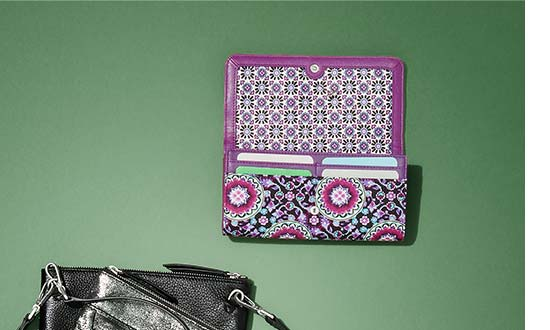 RFID Audrey Wallet in Lilac Medallion