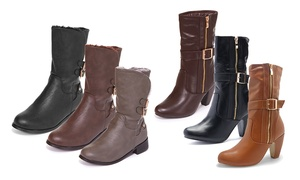 Junie's Women's Fully Fur-Lined Mid-Calf Boots