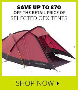 Save up to £70 off selected OEX Tents
