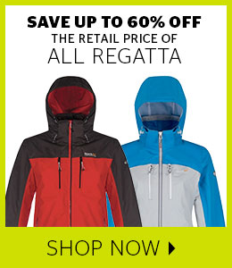 Save up to 60% off all Regatta