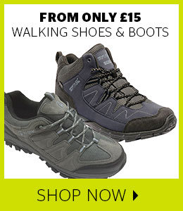 From only £15 walking shoes & boots