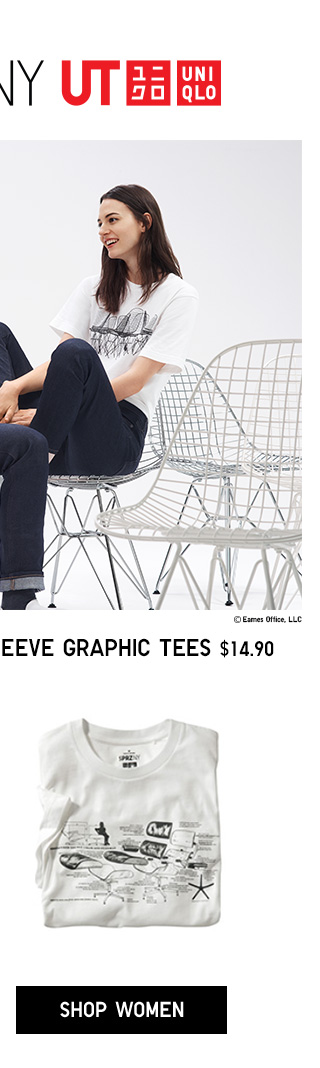SPRZ NY EAMES SHORT-SLEEVE GRAPHIC TEES $14.90 - SHOP WOMEN