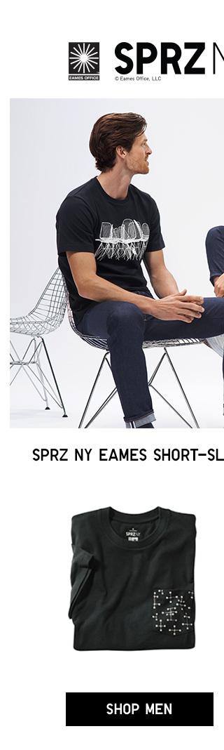 SPRZ NY EAMES SHORT-SLEEVE GRAPHIC TEES $14.90 - SHOP MEN