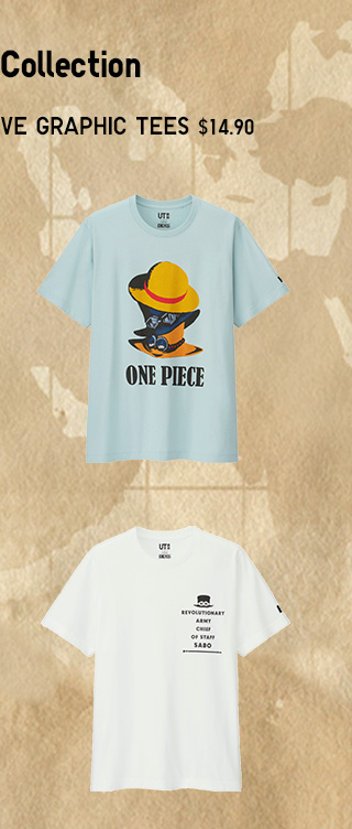 SHOP THE COLLECTION - ONE PIECE SHORT-SLEEVE GRAPHIC TEES $14.90