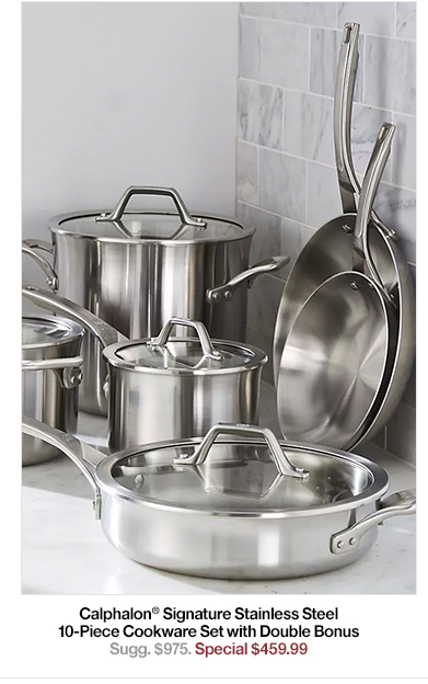 Calphalon Signature Stainless Steel 10-Piece