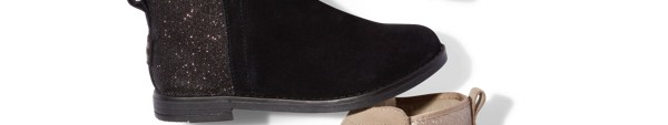 Black Suede Glimmer Youth Deia Booties