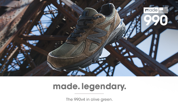 factory price a1b4c 93bec New Balance: The 990v4: Legendary Style In Olive Green | Milled