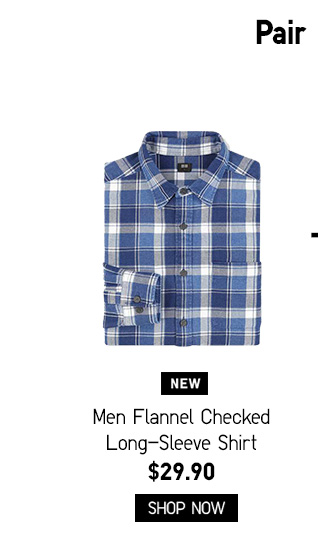 Men Flannel Checked Long-Sleeve Shirt $29.90 - Shop Now
