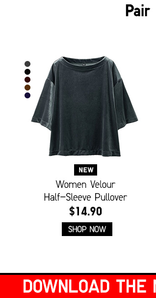 Women Velour Half-Sleeve Pullover $149.90 - Shop Now