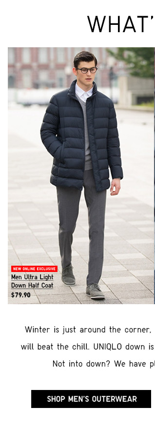 WHAT'S NEW - SHOP MEN'S OUTERWEAR