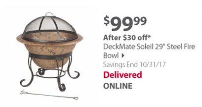 DeckMate Soleil 29 Steel Fire Bowl