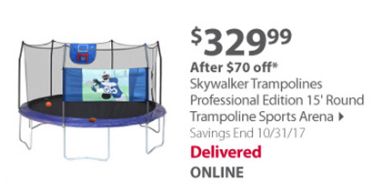 Skywalker Trampolines 15' Round Trampoline with Enclosure - Blue