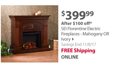 SEI Florentine Electric Fireplace