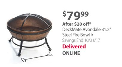 DeckMate Avondale 31.2 Steel Fire Bowl