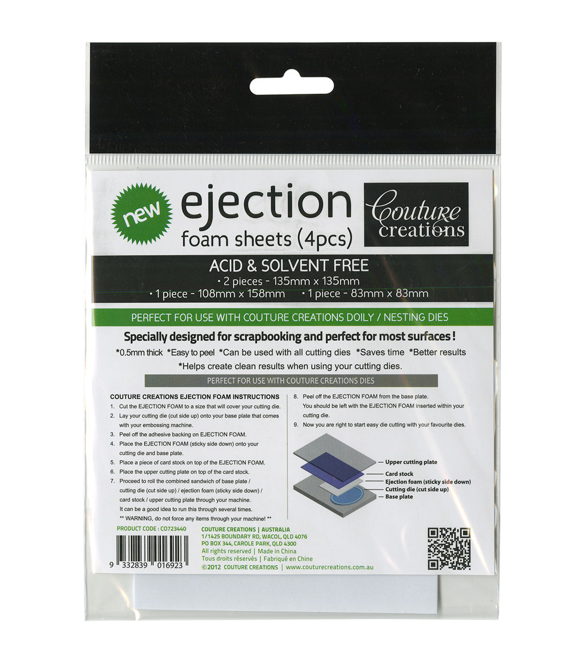 Couture Creations Ejection Foam Sheets