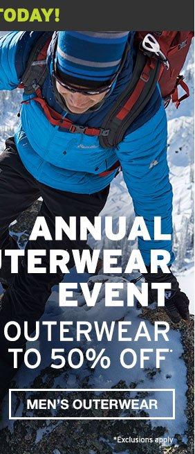 ANNUAL OUTERWEAR EVENT | SHOP MEN'S OUTERWEAR