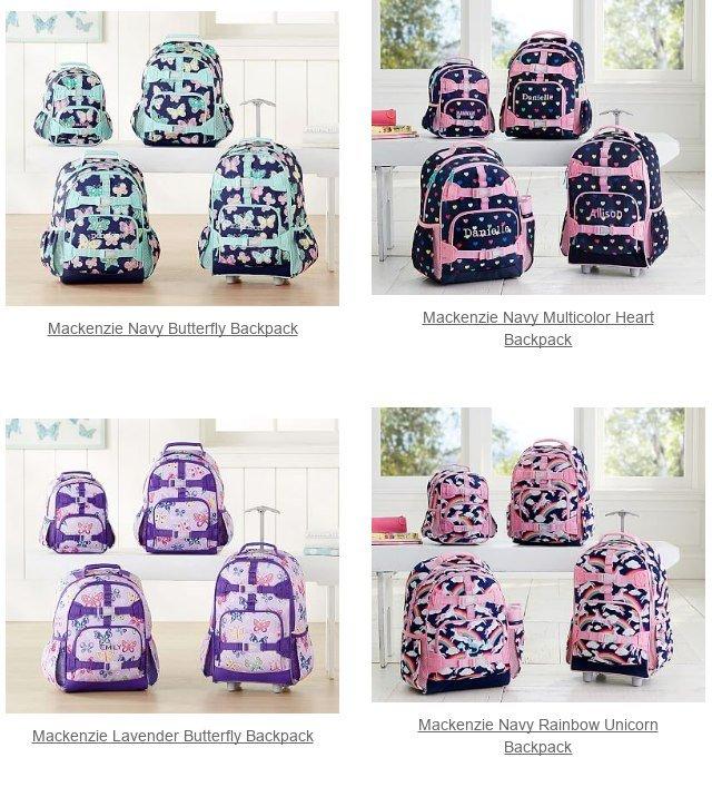 7dcaa3c07fde Mackenzie Gray Rainbow Butterfly Backpack