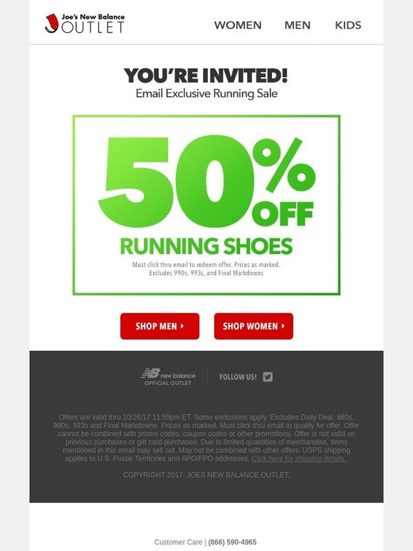 competitive price b56ef 8f2b1 Joe s New Balance Outlet  48 HOUR EXCLUSIVE  50% Off Running Shoes   Milled