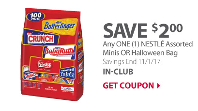 Any ONE (1) NESTLE Assorted Minis OR Halloween Bag