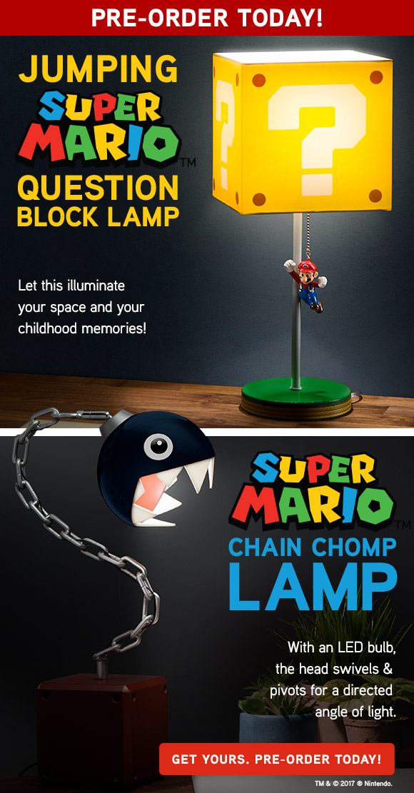 ThinkGeek: Power Up Dark Corners With New Chain Chomp + Jumping Mario Lamps!  | Milled
