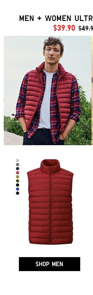 Men, Women Ultra Light Down Vest $39.90 - Shop Men