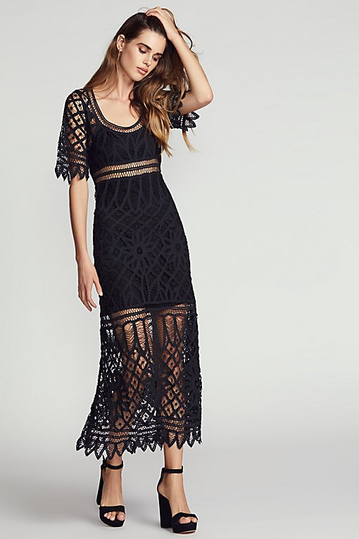 Tessa Macrame Maxi Dress