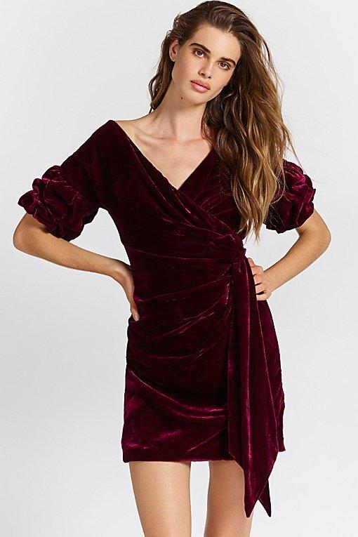 Caroline Velvet Wrap Dress