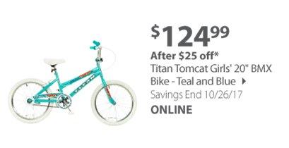BMX Bike - Teal and Blue