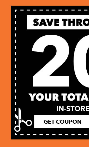 Save through 10/28 In-store and Online 20% off Your Total Purchase. Get Coupon.