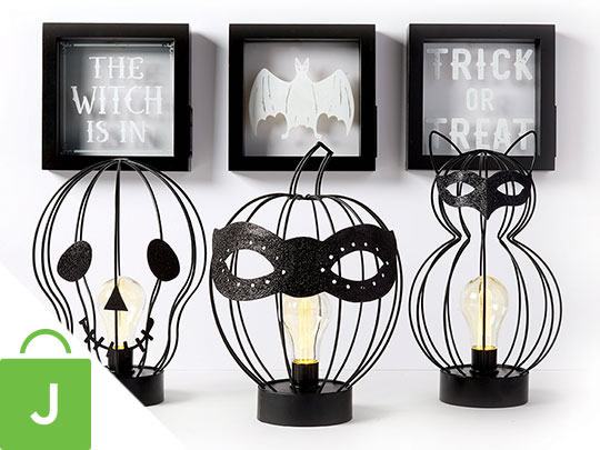 Halloween Decor, Entertaining, Textiles and Candles.