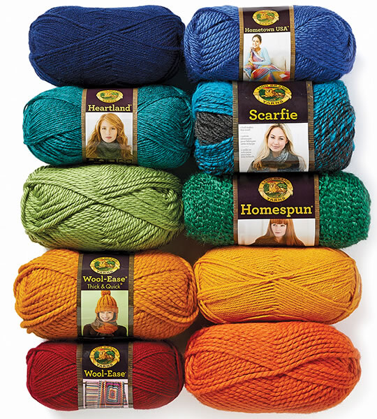 ENTIRE STOCK Lion Brand Yarns.