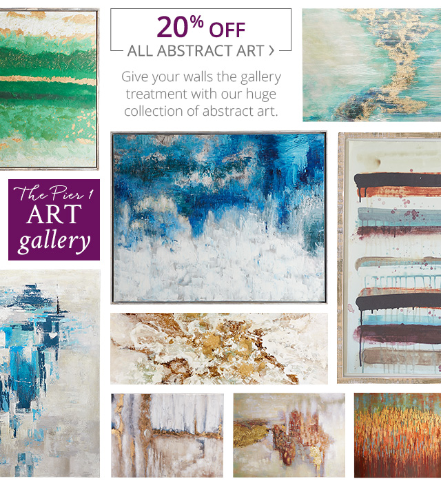 20% off all abstract art. Shop now.
