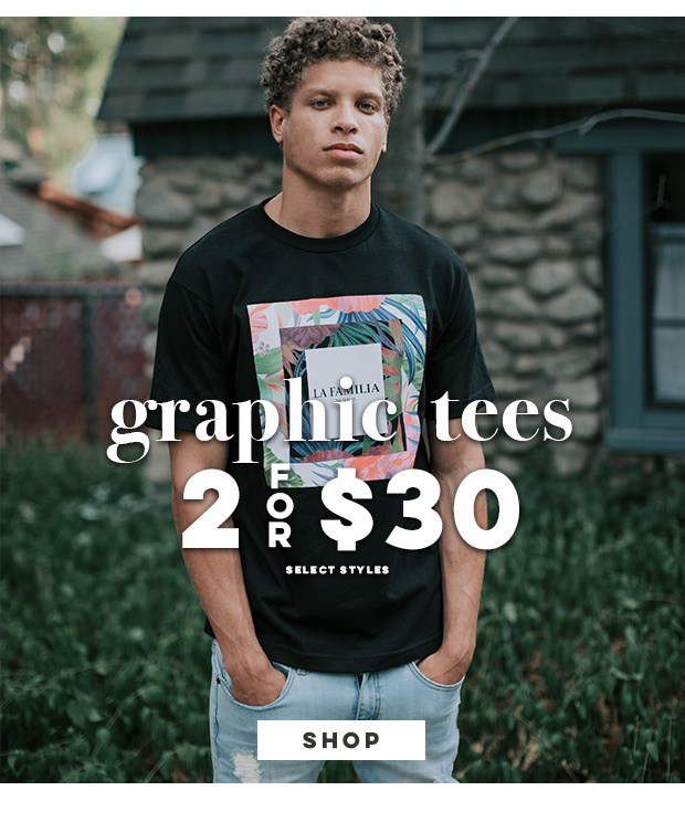 Graphic Tees - 2 for $30