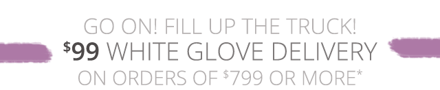 $99 White Glove Delivery on orders of $799 or more plus 6 month special financing. Learn more.