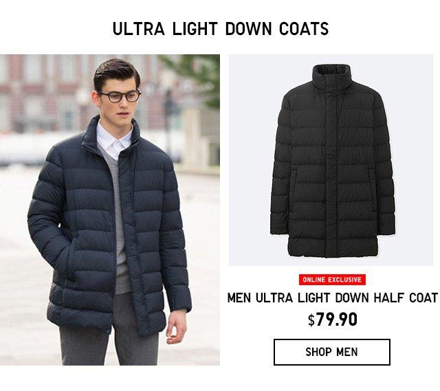 ULTRA LIGHT DOWN COATS $79.90 - SHOP MEN