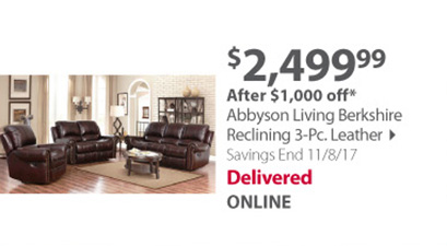 Abbyson Living Berkshire 3-Pc.