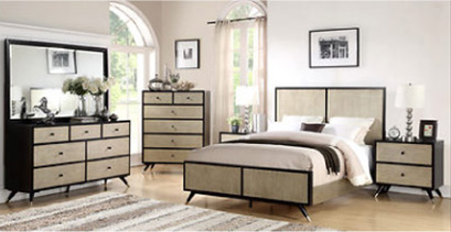 Abbyson Living Parker 5-Pc. Queen-Size Mid-Century Bedroom Set