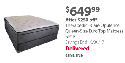 Therapedic I-Care Opulence Queen-Size Euro Top Mattress Set