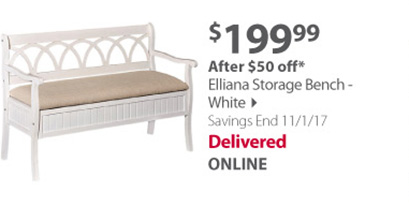 Elliana Storage Bench