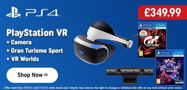 PlayStation VR, Camera, Gran Turismo Sport & VR Worlds
