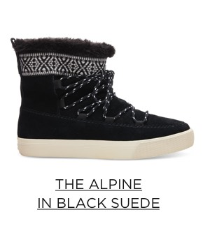 The Alpine in Black Suede