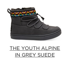 The Youth Alpine in Grey Suede