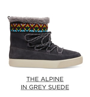 The Alpine in Grey Suede