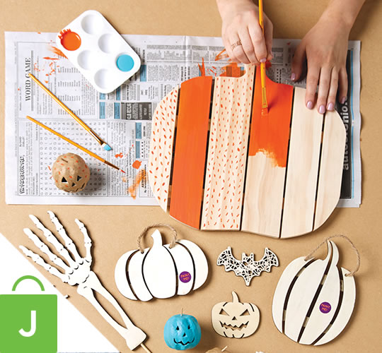 Fab Lab Halloween Craft Supplies.